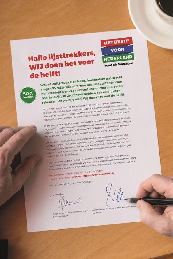 Het Beste voor Nederland komt uit Groningen