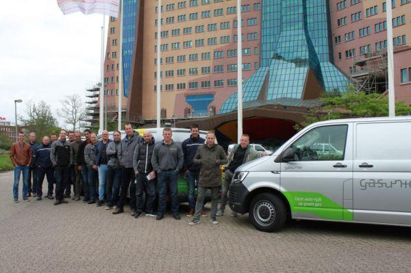 Gasunie vervangt 199 bedrijfswagen door wagens op groen gas met lage CO2-uitstoot